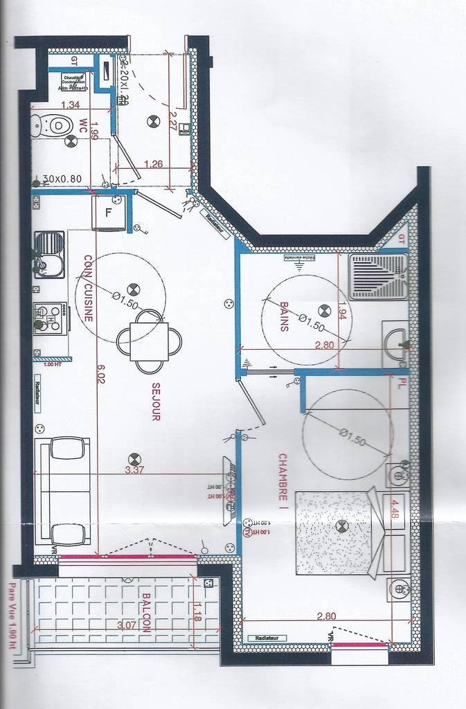 location appartement 2 pi ces 43 m villemomble 93250 43 m 860 e de particulier. Black Bedroom Furniture Sets. Home Design Ideas