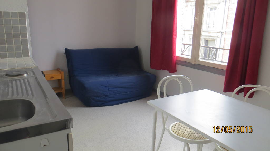 Location meubl e studio 17 m reims 51100 17 m 360 - Appartement meuble reims ...