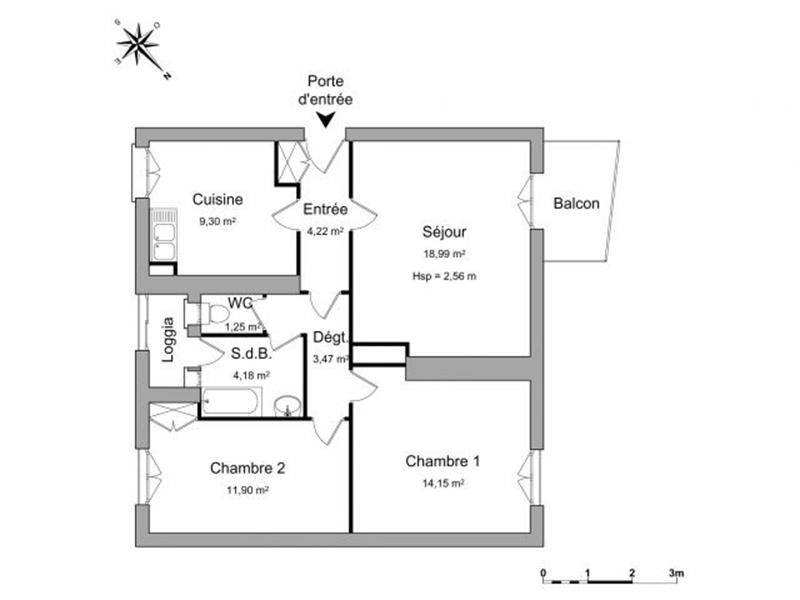 location appartement 3 pi ces 68 m dammarie les lys. Black Bedroom Furniture Sets. Home Design Ideas