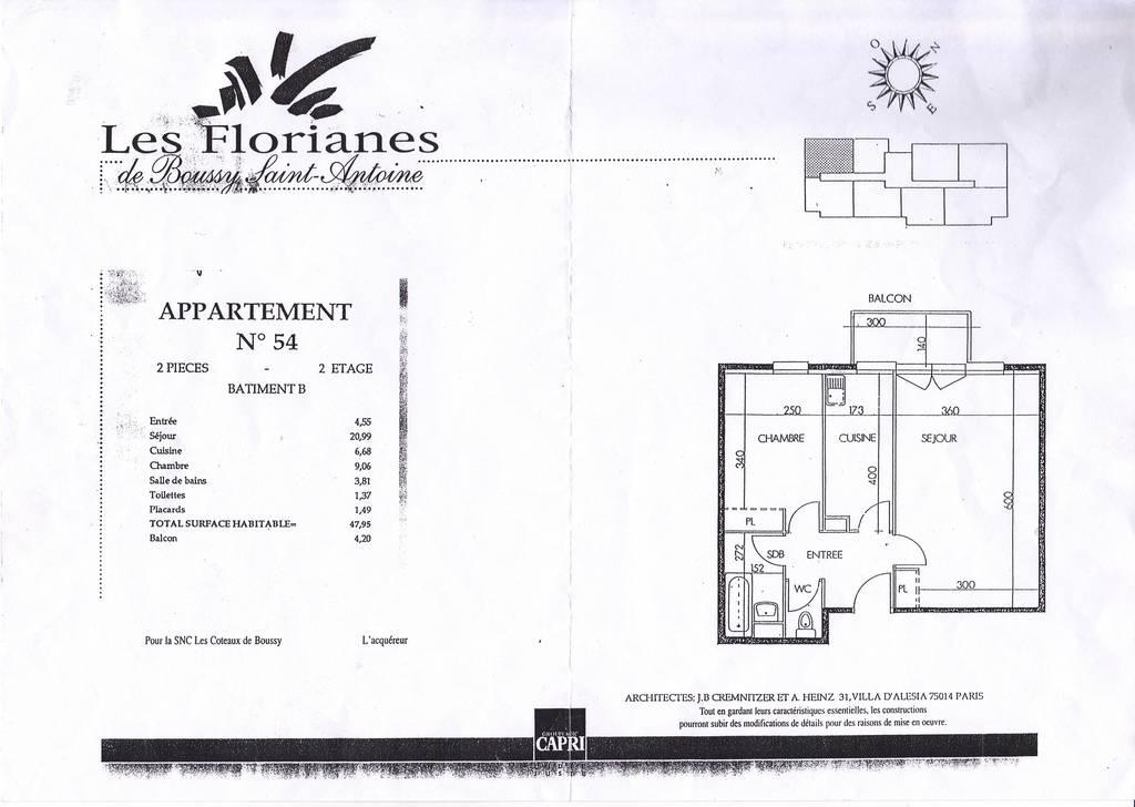 Appartement Boussy Saint Antoine
