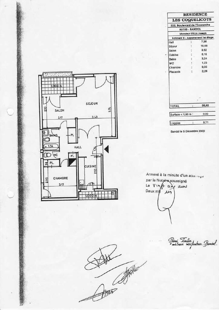 location appartement 3 pi ces 59 m bandol 83150 59 m 850 de particulier. Black Bedroom Furniture Sets. Home Design Ideas